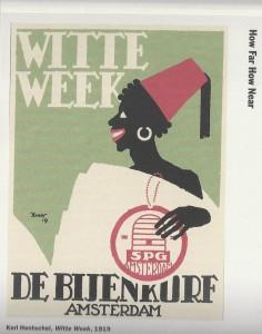Affiche 1919 Uitverkoop linnengoed bij de Bijenkorf